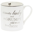 MUG LOVELY LADY AND GRUMPY OLD MAN